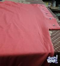 Remeron escote en V Talle 8 color rosa con tallar en el puñ