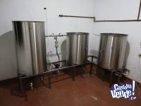 Modulo de coccion cerveza artesanal acero inoxidable 250L