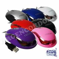 MOUSE OPTICO NOGA LUZ LED CON CABLE TAMAÑO IDEAL