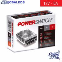 Fuente Switching 12v 5a 60w Tira Led Cctv - Power Switch