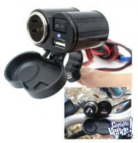 Cargador Adaptador Manubrio Moto Usb Encendedor 5 / 12v Gps