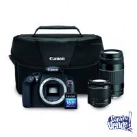 Canon Eos Rebel T6 Premium Kit 18-55mm+75-300mm+maletín+16g