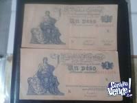 Billete 1 Peso Moneda Nacional Ley 12962 De 1947 Serie N
