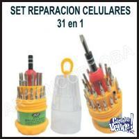 DESTORNILLADORES REPARACION CELULARES X31 imantados EN CILIN
