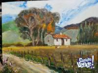 Rancho en la Pradera (Cuadro al Óleo)