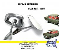 ESPEJO EXTERIOR CROMADO FIAT 125 - 1600