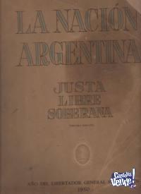 LA NACION ARGENTINA:JUSTA _LIBRE Y SOBERANA J.Peron $ 19000