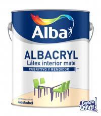 Pintura Latex Interior ALBACRYL Mate Blanco 20lt-COLORMIX