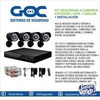 Kit Seguridad 4 Cámaras + Dvr + Cables + Instalación