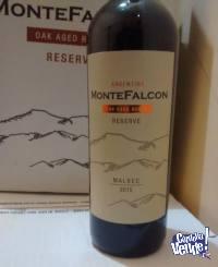 Vino Montefalcon Malbec Reserva 6 Meses Roble Caja X 6