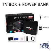 Smart Tv Box Mxq Pro 4k Android Hdmi + Power Bank Verbatim