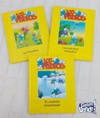 3 libros de Los Pitufos