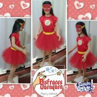 Disfraz de Flash para niñas.
