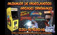 alquiler de videojuegos arcade retro originales fichin