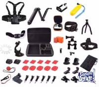 Kit Accesorios Gopro Sjcam Smart Tech Premium 44 Pcs Maletin