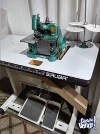 Maquina remalladora de tres hilos con mesada y motor
