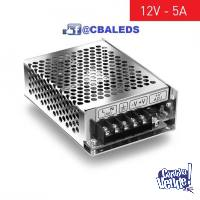 FUENTE 12V 5A SWITCHING METALICA