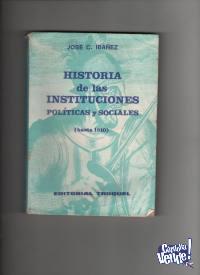 HISTORIA DE LS INSTITUCIONES POLIT: Y SOCIALES Ibañez  $ 12