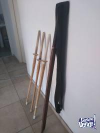 3 Espadas de bambu (Shinai) + Espada de Madera+ Funda
