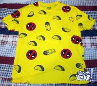 Remera Deadpool y Tacos (Marvel)