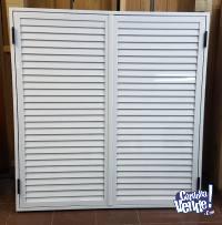 Celosía postigón de aluminio 1,00 x 1,00 abrir o corredizo
