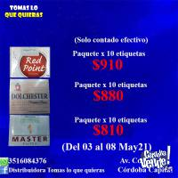 CIGARRILLOS RED POINT, DOLCHESTER, MASTER.