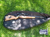 Rifle Menaldi cal 5.5 con mira telescopica