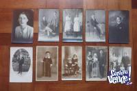Lote De 10 Postales Familiares - Gabinete