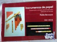 INSTRUMENTOS MUSICALES DE PAPEL   PABLO BENSAYA