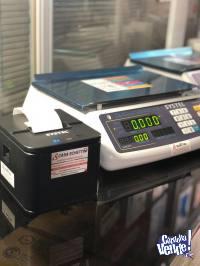 Balanza Systel Clipse 31kg + Impresor ticket ECO Garanía