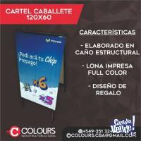 CARTEL CABALLETE 60X120