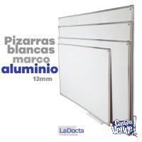 PIZARRAS BLANCAS 90x120cm – Marco de Aluminio (Nueva Cba.)