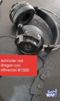 Auricular con vibracion red dragon coneccion usb