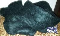440 gr. mohair negro semigordo 3 madejas lanas LHO