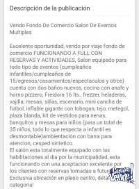 CAPILLA DEL MONTE- VENDE SALÓN DE FIESTAS EN PLENO CENTRO!!