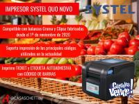 Impresor Bala Systel Quo Novo Etiquetas Autoadhesivas Ticket