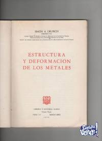 ESTRUCTURA Y DEFORMACION DE LOS METALES  Delpech $ 250