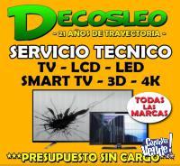 Servicio Tecnico de TELEVISORES LEDS LCD VEMOS TODOS  !!!