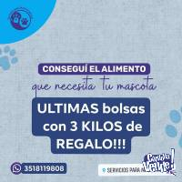 ULTIMAS bolsas con 3 kilos de REGALO!!!