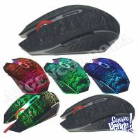 MOUSE GAMER TIME USB LUCES RGB 6 BOTONES CON CABLE