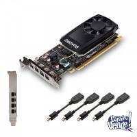 PLACA DE VIDEO 4GB QUADRO P1000 PNY D5 4 x mDP 1.4