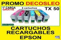 Cartucho Recargable Epson T50 R290 1430w R1410  DECOSLEO