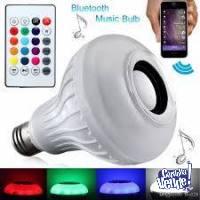 Lámpara Led Rgb C/parlante Bluetooth Luces Música Control