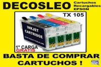 Cartucho Recargable Epson Para T23, T24, Tx 105 Y Tx 115