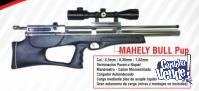 Rifle Mahely Dual Pcp Modelo Bullpup 5,5 mm Niquelado