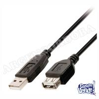 CABLE PROLONGADOR ALARGUE USB MACHO-HEMBRA 1 METRO
