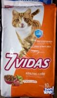 7 vidas Gato x 10 kg ( carne o salmón )