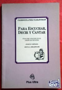 PARA ESCUCHAR, DECIR Y CANTAR - FOLKLORE EN EL JARDÍN