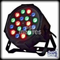 PROTON PAR 18 LED ALTA LUMINOSIDAD RGB AUDIORITMICO DMX