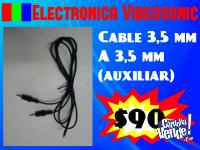 Cable 3.5 mm a 3.5 mm AUXILIAR!! Tenemos St